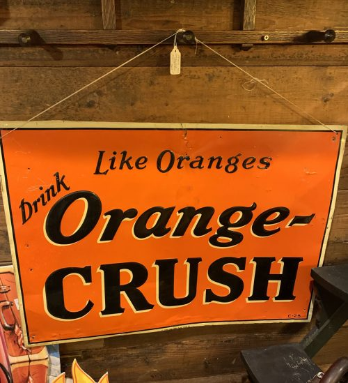 Orange Crush Vintage sign