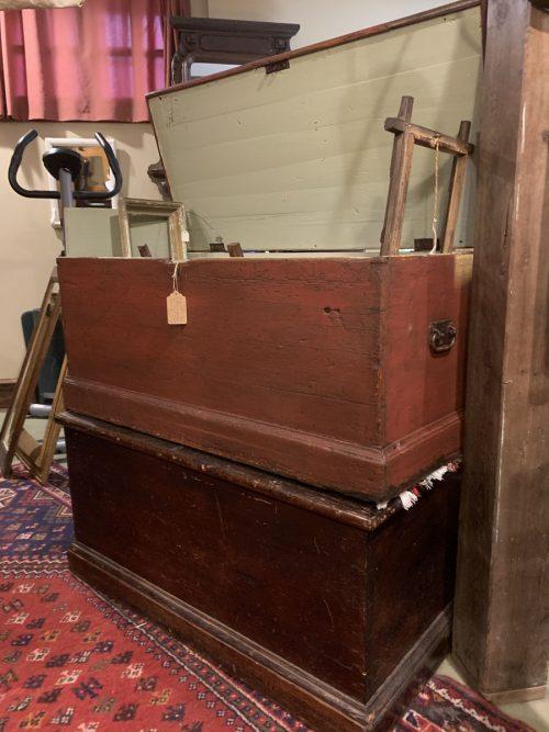 Blanket Box / trunks Ca 1840.