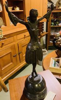 Art Nouveau P.Philippe Bronze Statue Paris.